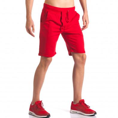 Червени мъжки шорти за спорт it260416-26 4