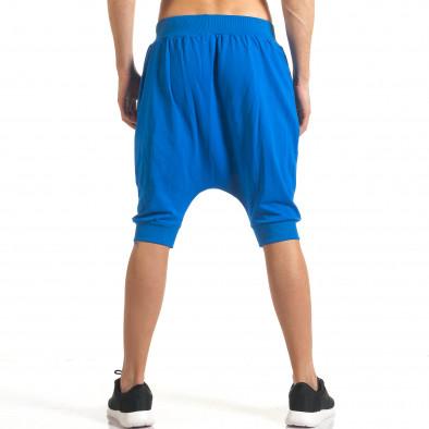 Мъжки сини къси потури с много смъкнато дъно it140317-93 3