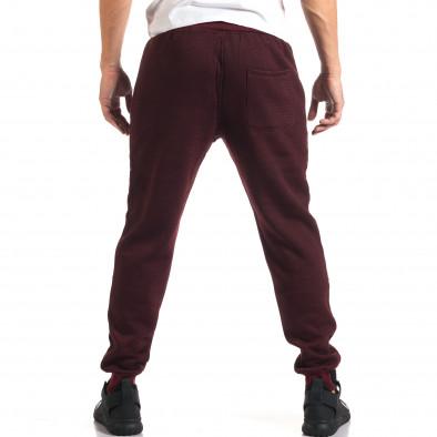 Мъжко червено долнище с черен контур на джобвете it160916-34 3