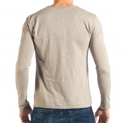 Мъжка сива блуза изчистен модел it301017-95 3