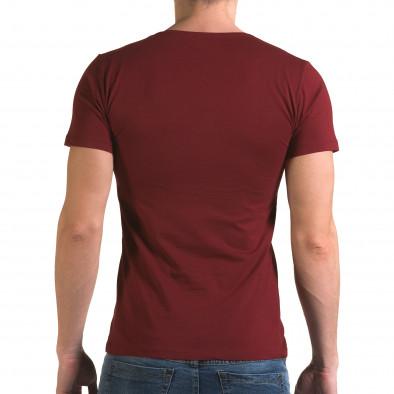Мъжка червена тениска с череп отпред il120216-27 3