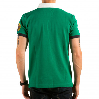 Мъжка зелена тениска с бяла яка il180215-120 3