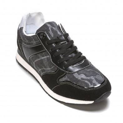 Мъжки маратонки черно-сив камуфлаж it090316-8 3