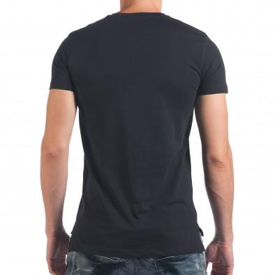 Мъжка синя тениска с череп il060616-32 3