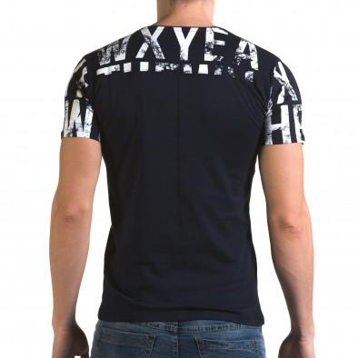 Мъжка синя тениска Wxyea Thewh il120216-35 3