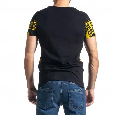 Мъжка тениска Caution в черно и жълто tr010221-11 3