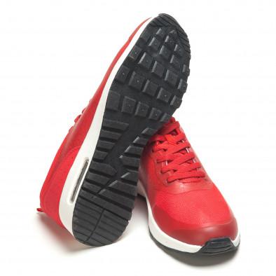Мъжки червени маратонки с камери it210416-7 4