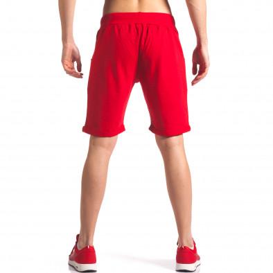 Червени мъжки шорти за спорт it260416-26 3