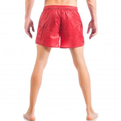 Мъжки червен бански изчистен модел it050618-66 4