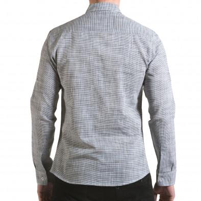Мъжка сива риза изчистен модел il170216-123 3