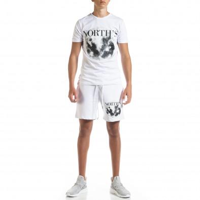 Бял мъжки спортен комплект Moon tr010720-1 2