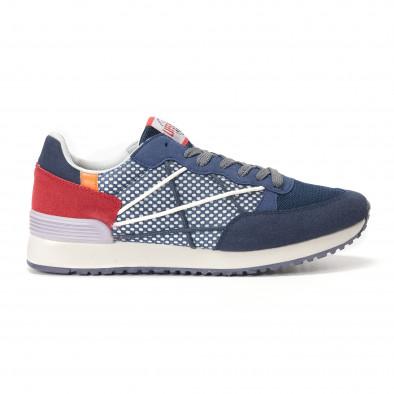 Мъжки сини маратонки на малки бели точки it250118-23 2