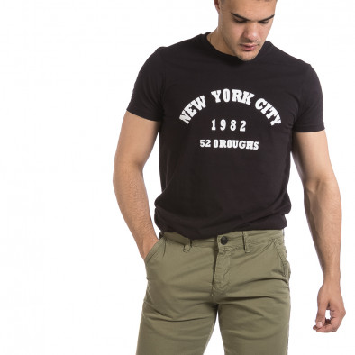 Мъжка черна тениска New York City it040621-10 4