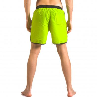 Мъжки неоново зелени бански тип шорти с бандаж ca050416-29 3