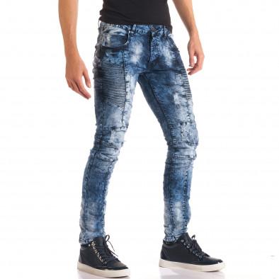 Мъжки дънки с допълнителни шевове it150816-9 4