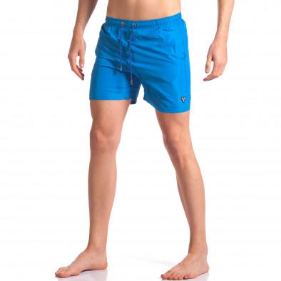 Мъжки бански тъмно сини с лого tsf250416-70 2