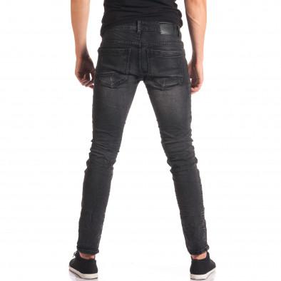Мъжки тъмно сиви дънки със скъсвания на коленете it150816-16 3