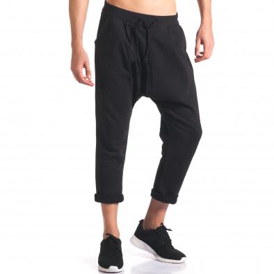 Мъжки потури с джобове отпред черни it260416-35 4