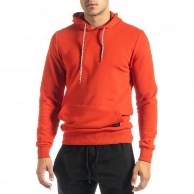Basic мъжки червен суичър тип анорак tr020920-33 2