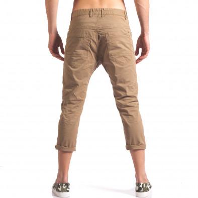 Мъжки кафяв панталон 7/8 тип потури it250416-28 3