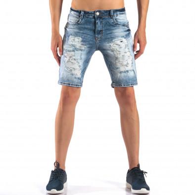 Мъжки къси дънки със скъсвания it160616-16 2