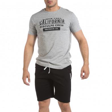 Мъжки комплект California в сиво и черно it040621-1 2