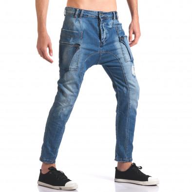 Мъжки дънки потури с яки джобове Always Jeans 5