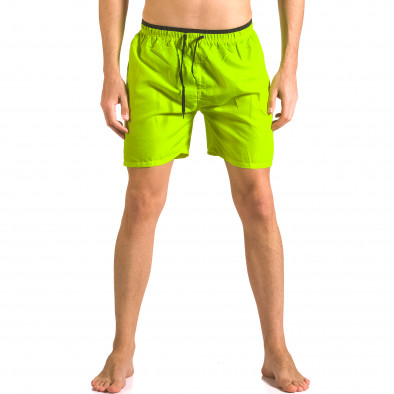 Неоново зелени бански тип шорти с връзки ca050416-25 2
