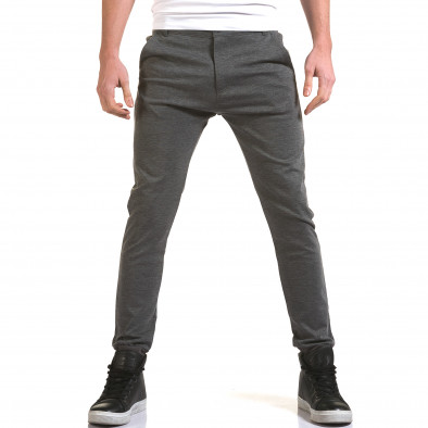 Мъжки светло сив панталон с италиански джобове it090216-28 2