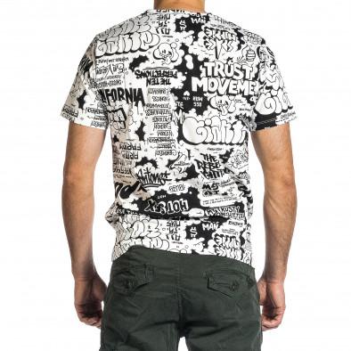 Мъжка черно-бяла тениска с комикси it200421-9 4
