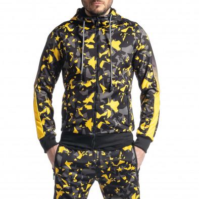 Мъжки анцуг черно-жълт All over print it010221-52 3