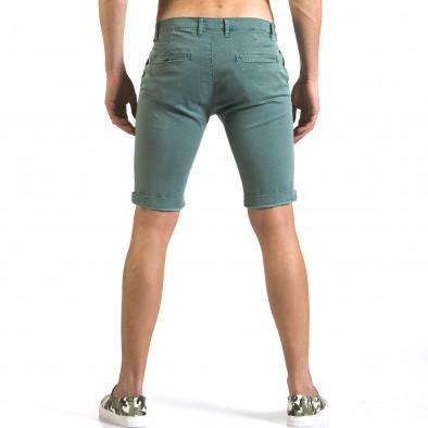 Мъжки зелени къси панталони с малки ромбчета it110316-47 3
