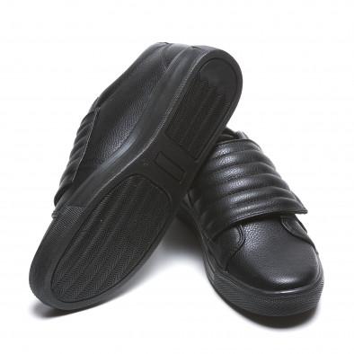 Мъжки черни кецове с лепенки il160216-8 4