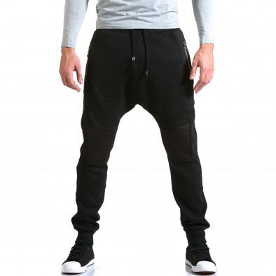 Мъжки черни потури с хоризонтални шевове it211015-57 2