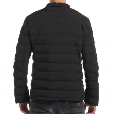 Мъжко черно зимно яке с елегантен дизайн it190616-4 3