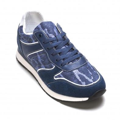 Мъжки маратонки син камуфлаж it090316-7 3