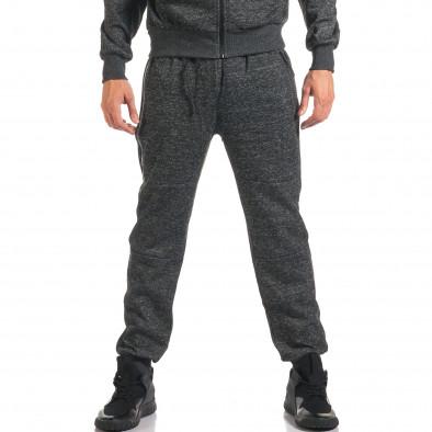 Мъжки тъмно сив спортен комплект с ципове it160916-61 5
