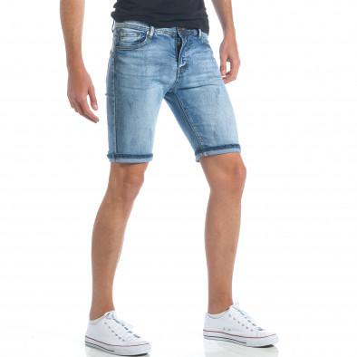 Мъжки къси дънки с малки скъсвания it190417-59 4