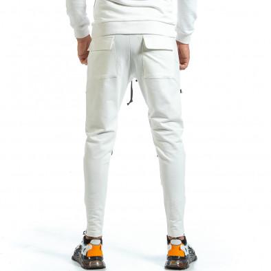Мъжко бяло долнище 6 джоба tr070721-6 3