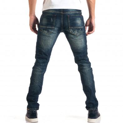 Мъжки дънки с декоративни скъсвания и кръпки it160916-19 3