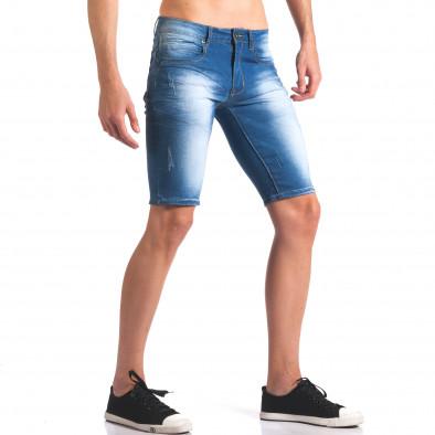 Къси мъжки дънки с избелял ефект it250416-30 4
