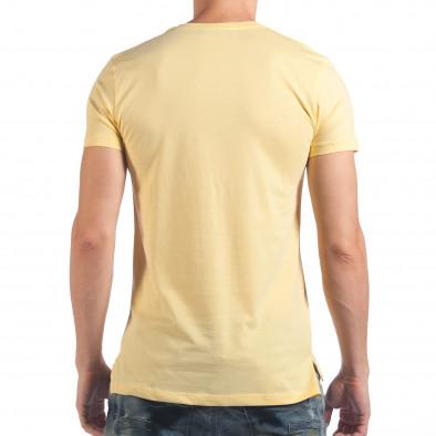 Мъжка жълта тениска с череп il060616-31 3