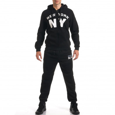 Мъжки черен спортен комплект NY it160916-64 2