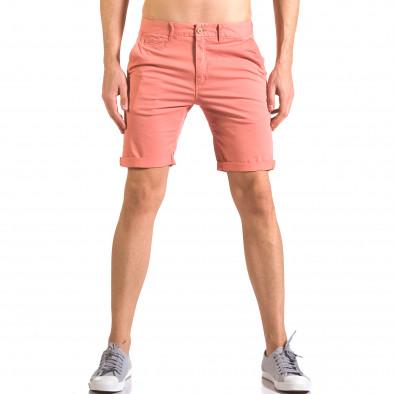 Червени мъжки къси панталони с италиански джобове ca050416-60 2