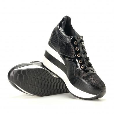 Дамски черни маратонки на платформи it200917-29 4