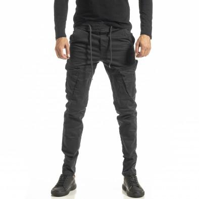 Мъжки сив Cargo панталон с прави крачоли tr180121-2 2