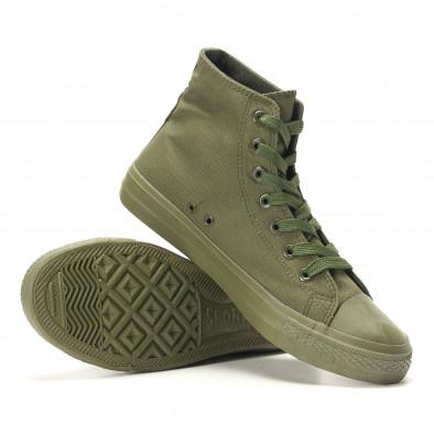 Мъжки високи кецове военно зелени iv220420-3 4