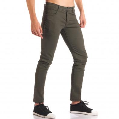 Мъжки зелен спортно-елегантен панталон it150816-5 4