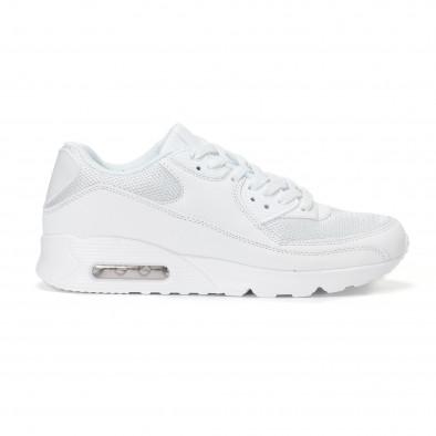 Мъжки маратонки с въздушна камера в бяло it160318-2 2