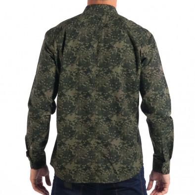 Мъжка риза зелен камуфлаж lp070818-118 3